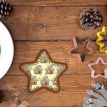 Dekorácie - Vianočné grafické perníky so vzorom - domček - 10191793_
