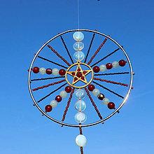 Dekorácie - Harmonizační Mandala - Zářící Měsíční Hvězda - 10197836_