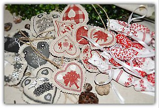 Dekorácie - Vianočné ozdoby - vidiecke vianoce - sada č. 4 - 10197270_