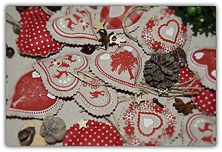 Dekorácie - Vianočné ozdoby - vidiecke vianoce - sada č. 28 - 10197424_