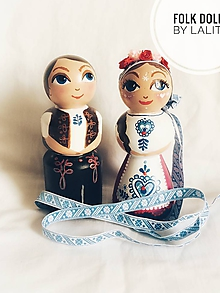 Bábiky - Folk dolls č.2 - bábky v ľudovom kroji - 10198732_