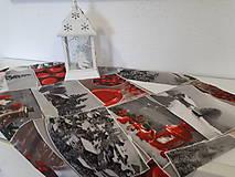 Úžitkový textil - Vianočný obrus (Zasnežená krajinka bez lemu) - 10195209_