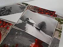 Úžitkový textil - Vianočný obrus (Zasnežená krajinka bez lemu) - 10195218_