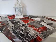 Úžitkový textil - Vianočný obrus (Zasnežená krajinka bez lemu) - 10195221_