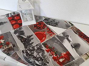 Úžitkový textil - Vianočný obrus (Zasnežená krajinka bez lemu) - 10195213_