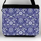 Iné tašky - Taška na plece XL ľudový motív kvety a vtáky 06 - 10196614_