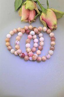 Náramky - Andský ružový opál náramok - 10195756_