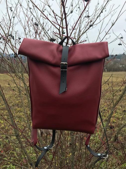 kožený batoh_