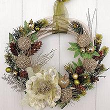 Dekorácie - Vianočný veniec elegancia - 10196770_