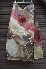 šatka do hneda_silk scarf