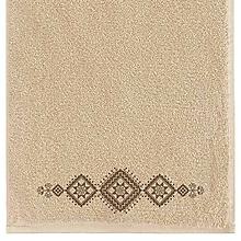 Úžitkový textil - Vossen, uterák s výšivkou Bzovík, béžový - 10195699_
