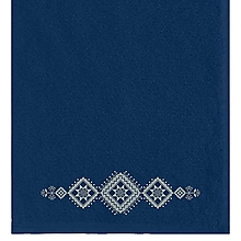 Úžitkový textil - Vossen, uterák s výšivkou Bzovík, tm.modrý - 10195778_