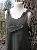 Sukne - Uzlíková šatová sukňa z ľanu - 10197092_