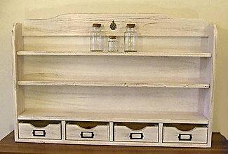 Nábytok - Polička na koreničky XXL - 10195275_