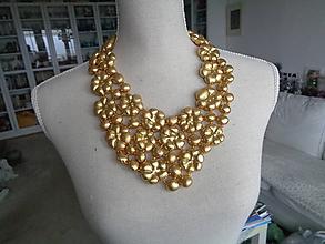 Náhrdelníky - Náhrdelník zlatý Max - 10196098_