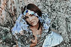 Ozdoby do vlasov - Strieborná retiazková čelenka s hviezdičkami - 10197053_