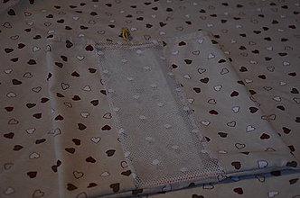 Nákupné tašky - Zero Waste vrecká na pečivo (Vrecko na pečivo-srdiečka) - 10196975_