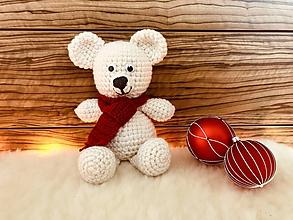 Hračky - Vianočný medvedík - 10195554_