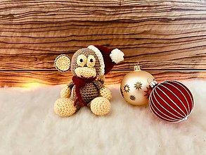 Hračky - Vianočná opička - 10195645_