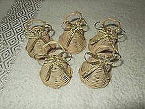 Dekorácie - minizvončeky sada 50 ks pre tanulkuj - 10198730_