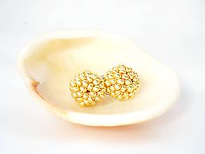 Sady šperkov - Set Petit v drevenej darčekovej kazete (Zlatá) - 10197909_