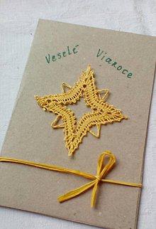 Papiernictvo - vianočná paličkovaná pohľadnica - 10196487_