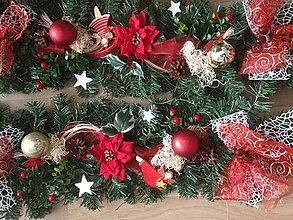 Dekorácie - Velka vianočna 6,5m girlanda - 10198716_