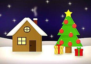 Grafika - Domček a vianočný stromček 6 (vianočné gule) - 10195442_