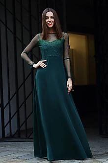 Šaty - Šaty zelená trblietka - 10201393_