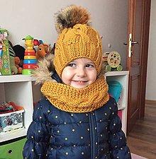 Detské čiapky - horčicova čiapka - 10199973_