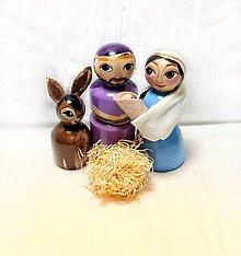 Dekorácie - Betlehem set drevené bábky - 10199259_