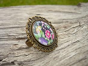 Prstene - VÝPREDAJ! Prsteň kovový folklórny - 10199748_