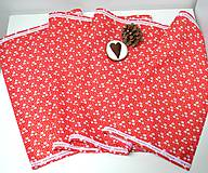 - Vianočný obrus-štóla červená s čipkou(138 x 40 cm) - 10200460_
