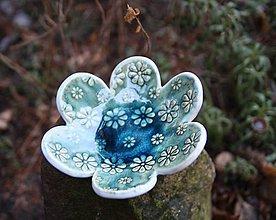 Svietidlá a sviečky - kvetinka modrá - 10201736_