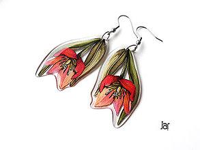 Náušnice - Tulipánové. - 10200399_