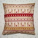 Úžitkový textil - Vianočný vankúš soby - 10202036_