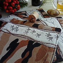 Úžitkový textil - podšálky Stopy, sada - 10200908_