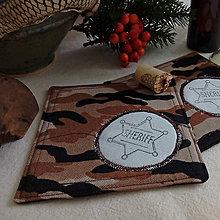 Úžitkový textil - podšálka Šerif, hnedá - 10201039_