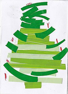 Papier - Andreas: Pohľadnice Vianoce  (Stromček zelený) - 10199145_