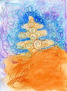 Papier - Andreas: Pohľadnice Vianoce  (Stromček veselý) - 10199148_