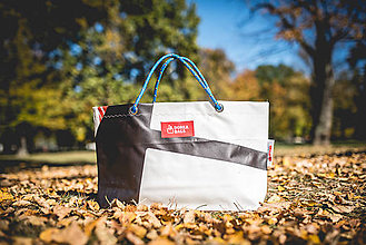 Veľké tašky - Úsmev ako dar - DORKA bag (Čiernobiela zebra) - 10201989_