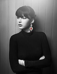 Náušnice - červené luxusné Verdana - 10200758_