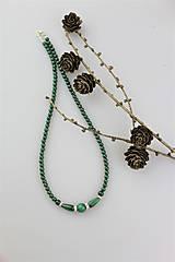 Náhrdelníky - malachit náhrdelník - 10200461_