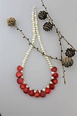 Náhrdelníky - koral perly náhrdelník luxusný SUPERAKCIA! - 10201756_