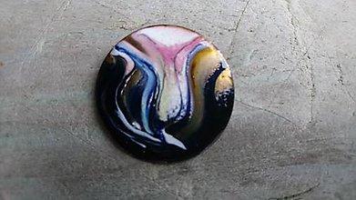 Odznaky/Brošne - Čierny kvet - 10202239_
