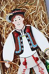 Hračky - Pohyblivá hračka v slovenských krojoch - I (Kúpač) - 10199905_