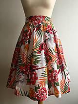 Sukne - sukňa Pestrofarebné exotic kvety - 10199649_