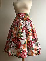 Sukne - sukňa Pestrofarebné exotic kvety - 10199650_