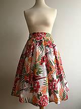 Sukne - sukňa Pestrofarebné exotic kvety - 10199651_