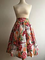 Sukne - sukňa Pestrofarebné exotic kvety - 10199653_
